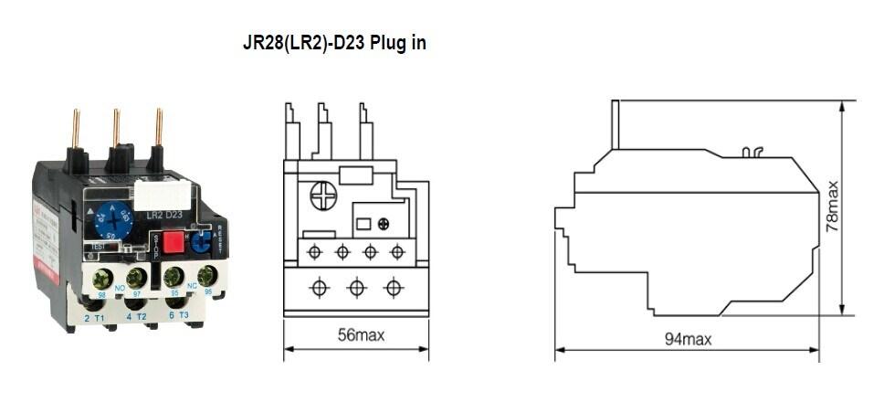china three phase bimetallic strip thermal relay jr28  lr2