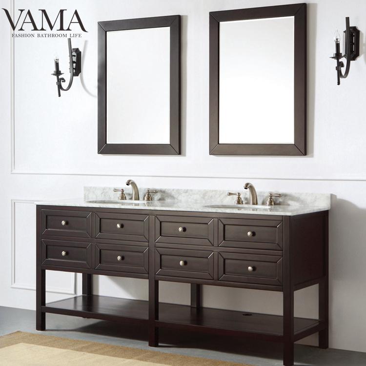 Vama 72 Inch Espresso Colour Solid Wood, Espresso Color Furniture