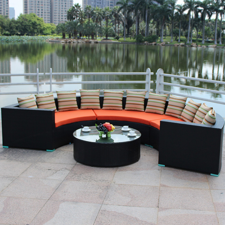 New Rattan Weaving Long Comfortable Sofa with Great Price
