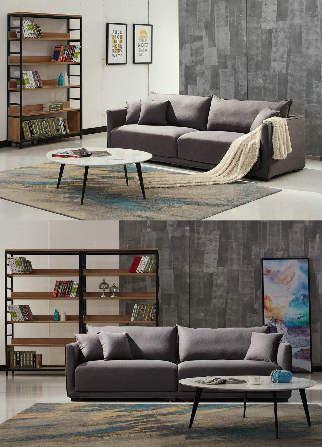 China Exporting to Wholesale Modern Sectional Fabric Sofa (KG006)