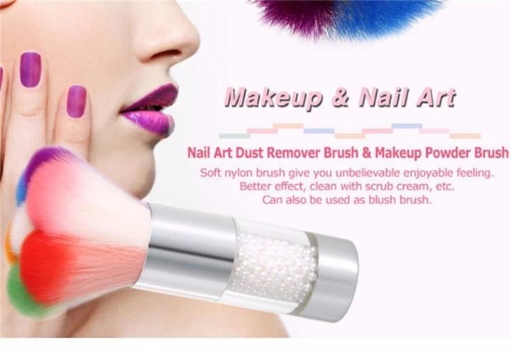 Nylon Soft Hair Golden me<em></em>tal Handle Flower Nail Dust Brush