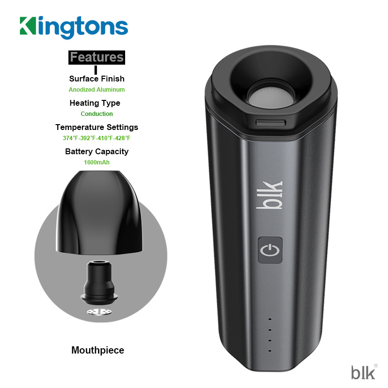 Authentic Kingtons Newest Blk Nova Dry Herb Vape Pen