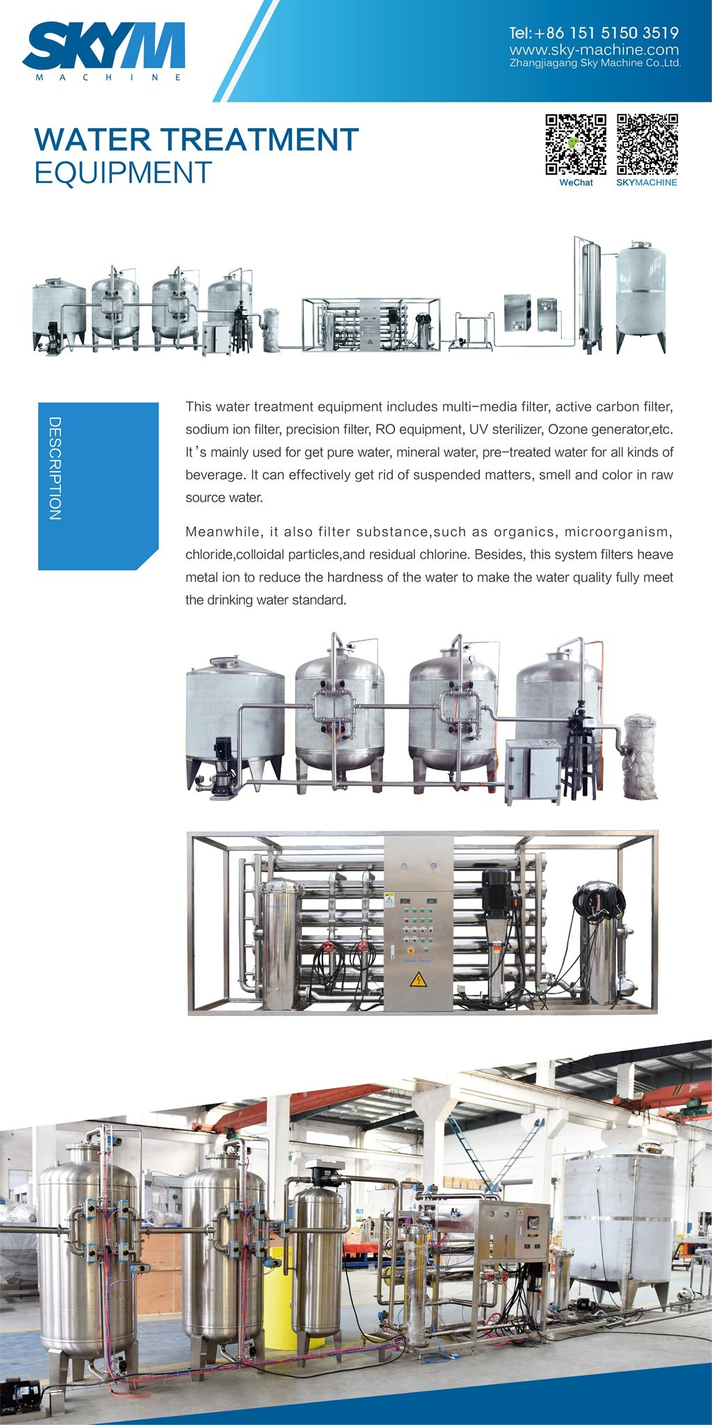 China RO System Reverse Osmosis Water Filter Water Treatment