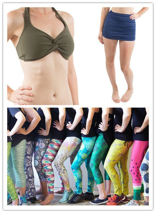 Space-Dyed Polyester Lycra Yoga Knitted Fabric for Underwear/Bikini