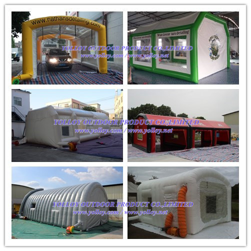 Outdoor Portable Car Garage Tent Inflatable Spray Paint Booth