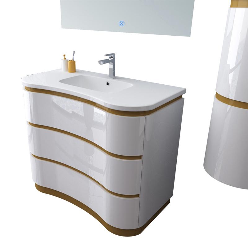 Luxury Pvc Curved Wall Mounted Bathroom