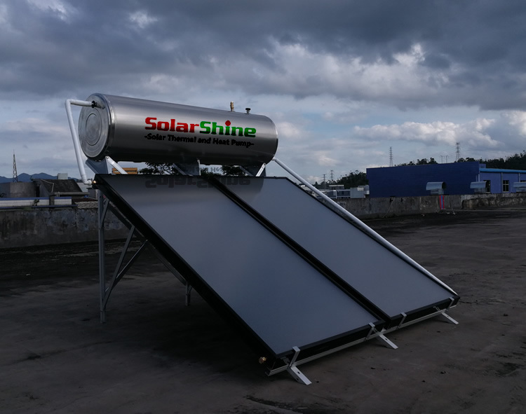 Stable Flat Plate Solar Water Heater, 0.6MPa Compact Solar Water Heater
