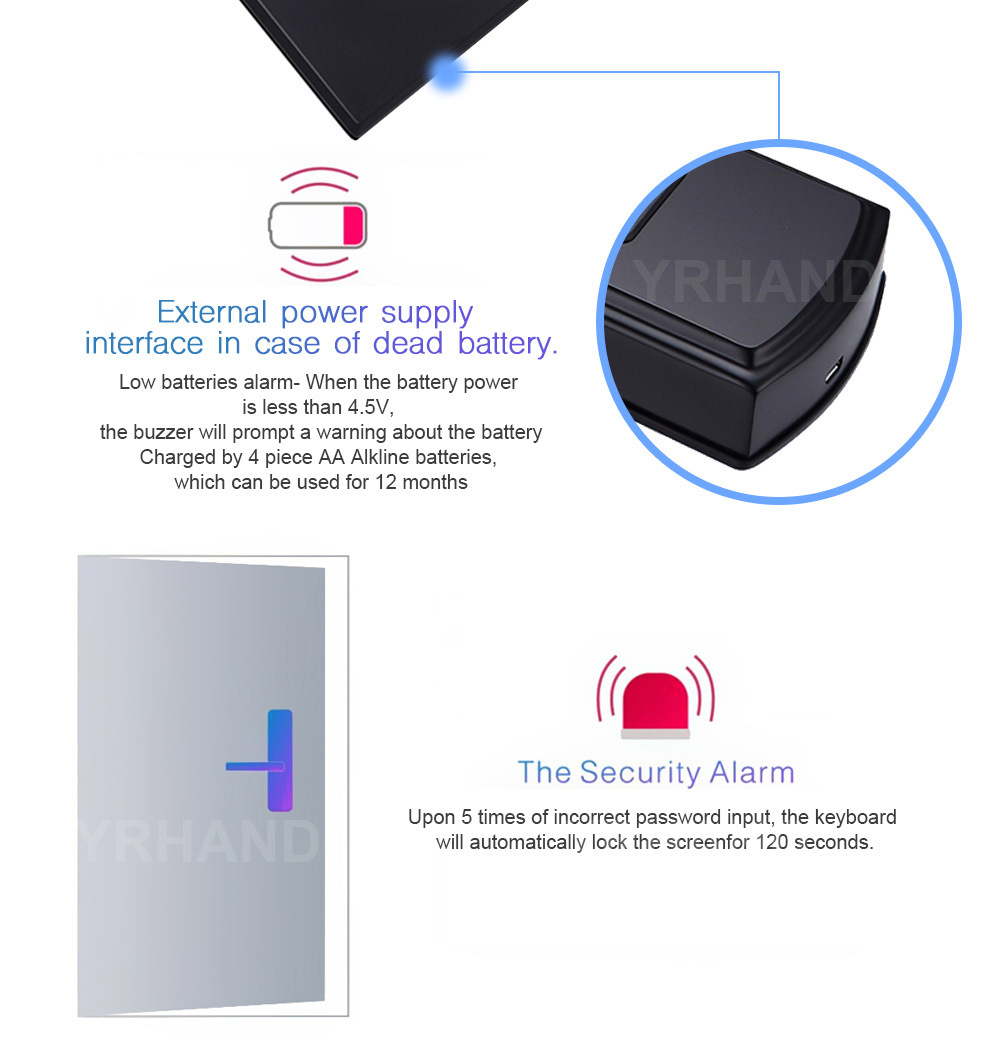 China Bluetooth App Controlled Fingerprint Door Lock With
