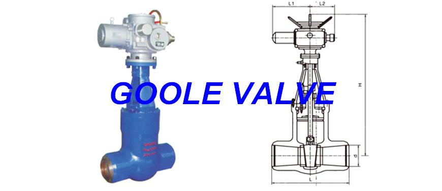 Electric Pressure Seal Power Station Gate Valve (GAZ960Y)