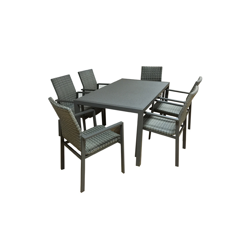 China Spray Stone Gl Dining Table