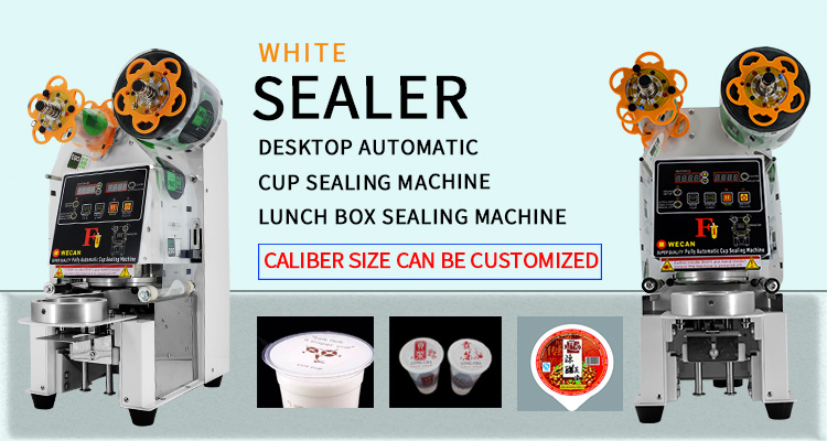 Semi-Stainless Steel (white) Desktop Automatic Sealing Machine / Lunch Box Sealing Wcs-F1 Caliber Diameter 95mm