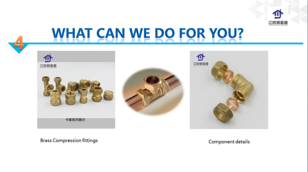 China Copper Fitting Copper Coupling Copper Elbow