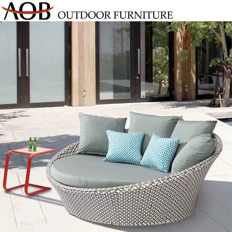 Awesome China All Weather Comfortable Outdoor Garden Furniture Rattan Bali Daybed Sunbed Round Bed Alphanode Cool Chair Designs And Ideas Alphanodeonline