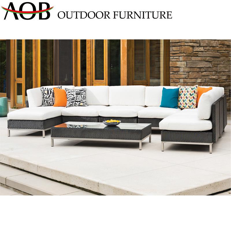 China Contemporary Sectional Sofa Sets Garden Outdoor Furniture Patio  Poolside Long Sofa
