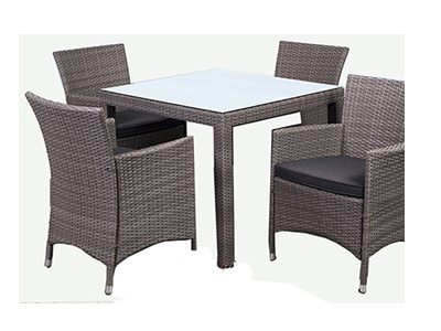China Rattan Garden Dining Table Chairs