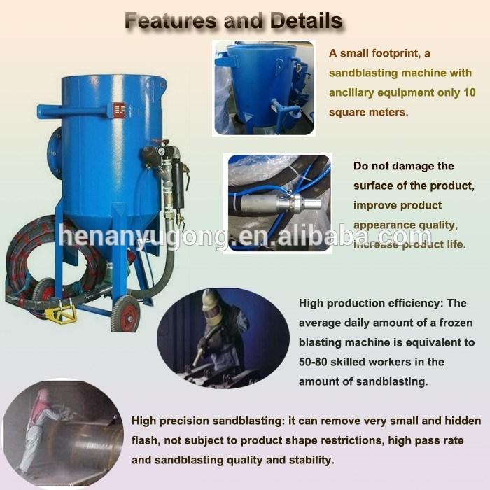 Sand Blaster Spraying Dustless Sandblaster Soda Wet Dry Sandblasting Machine