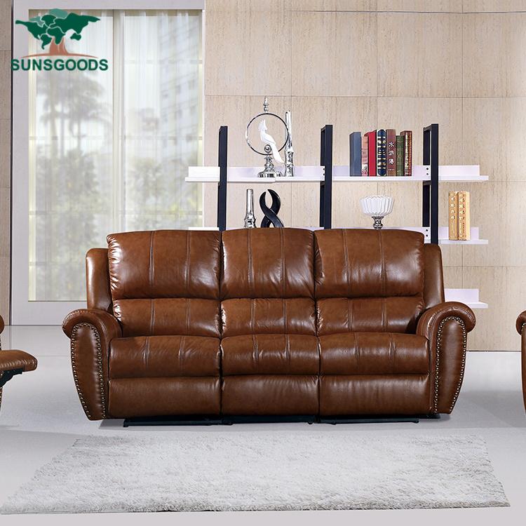 China Real Leather Swivel Rocking Lazy