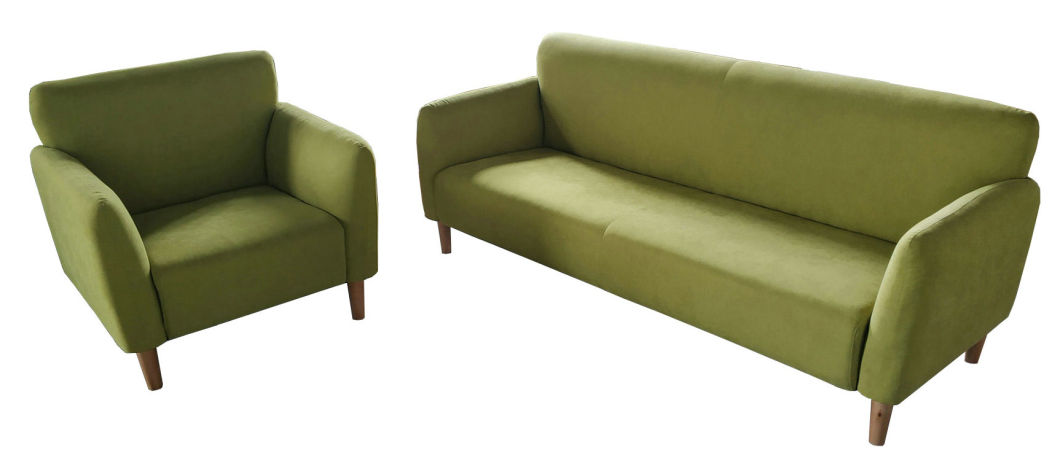 Nordic Leisure Living Room Green Sectional Fabric Sofa (L16)