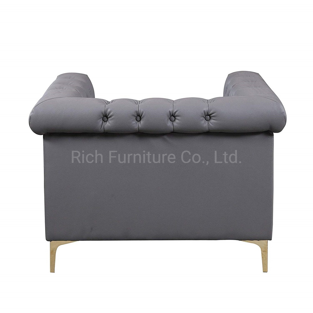 Sectional Couches Grey Leather