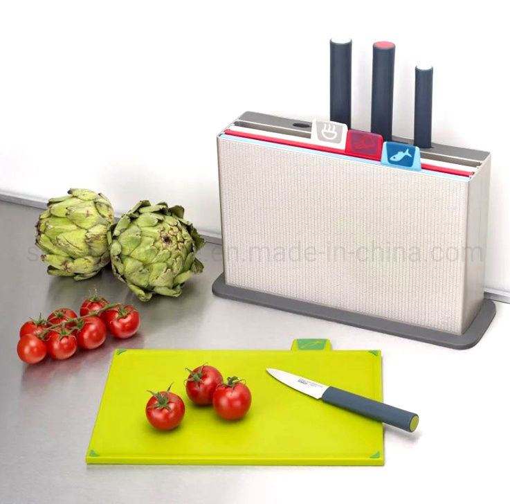4PCS New Desigin Multifunction Kitchen Cutting Board with 3PCS Knife Set (SE2323)