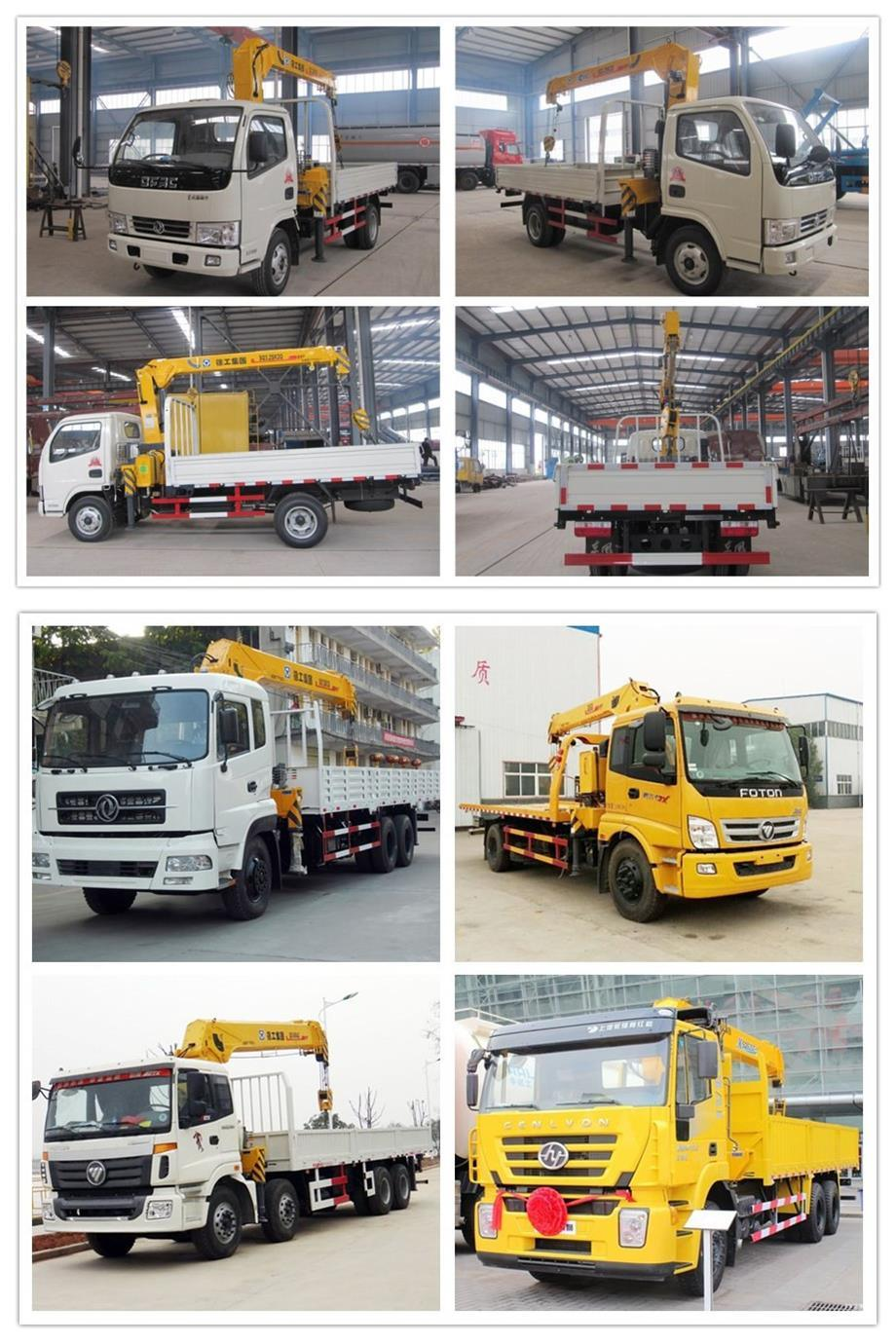 China Foton 4X2 8ton Small Mounted Crane Truck Price
