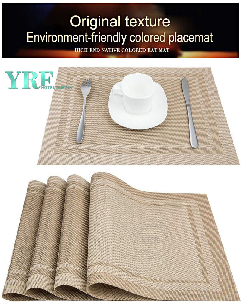 China Oblong Dining Table Cloth Pvc Non Stain Resistant Anti Skid Beige Placemats Wholesale Table Cloth On Topchinasupplier Com