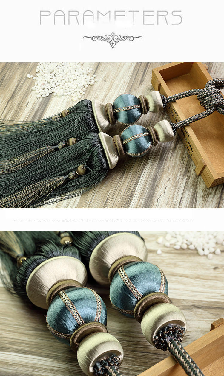 Tie Back Home Textile Ribbon Head Curtain Rayon Popular Tassel Tieback Buckle