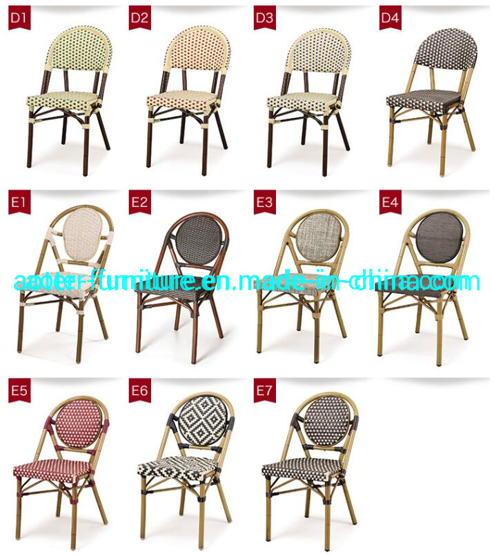 Outdoor Wicker Paris Cafe Bistro Chair