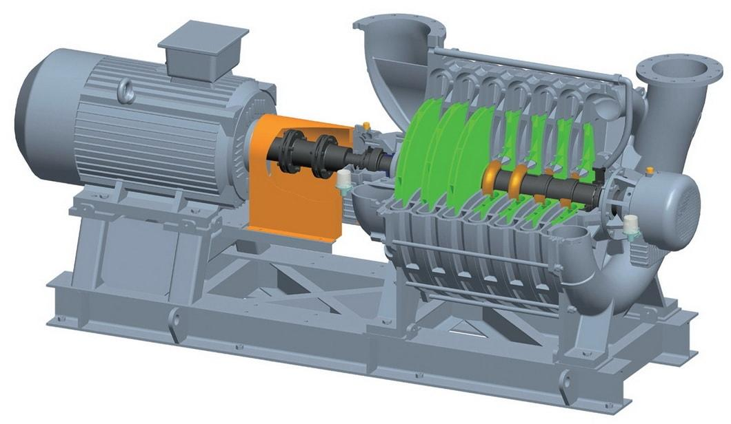 C Series Multistage Centrifugal Blower for Sewage Treatment with Ce Certificate
