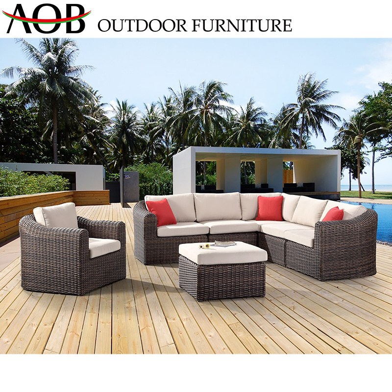 China Chinese Modern Outdoor Garden Home Hotel Patio Rattan Wicker Corner  Sofa Furniture China Home