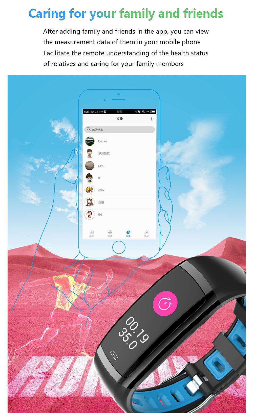 Smart Bracelet CD09 Wristwatch Men Sport Waterproof Watch Heart Rate Monitor Fitness Watch