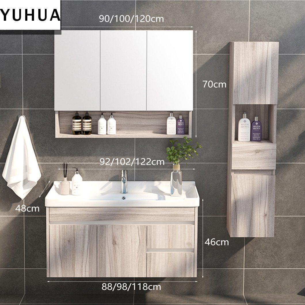 China Modern Wall Melamine Bathroom Cabinet With Mirrors Bathroom