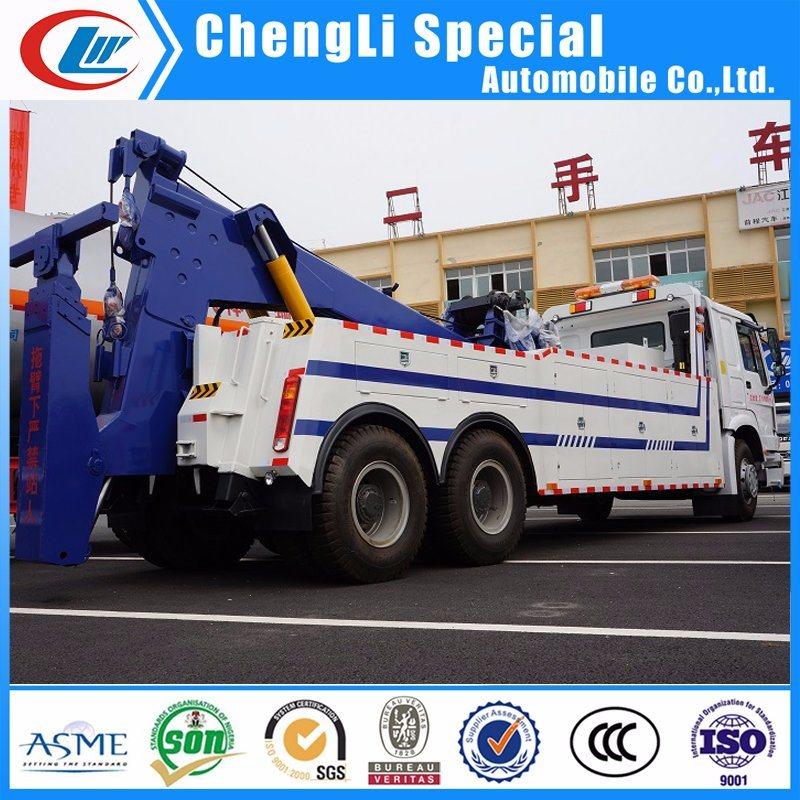 China 6*4 10 Wheels Heavy Duty Tow and Crane Wrecker Truck Breakdown Lorry Truck