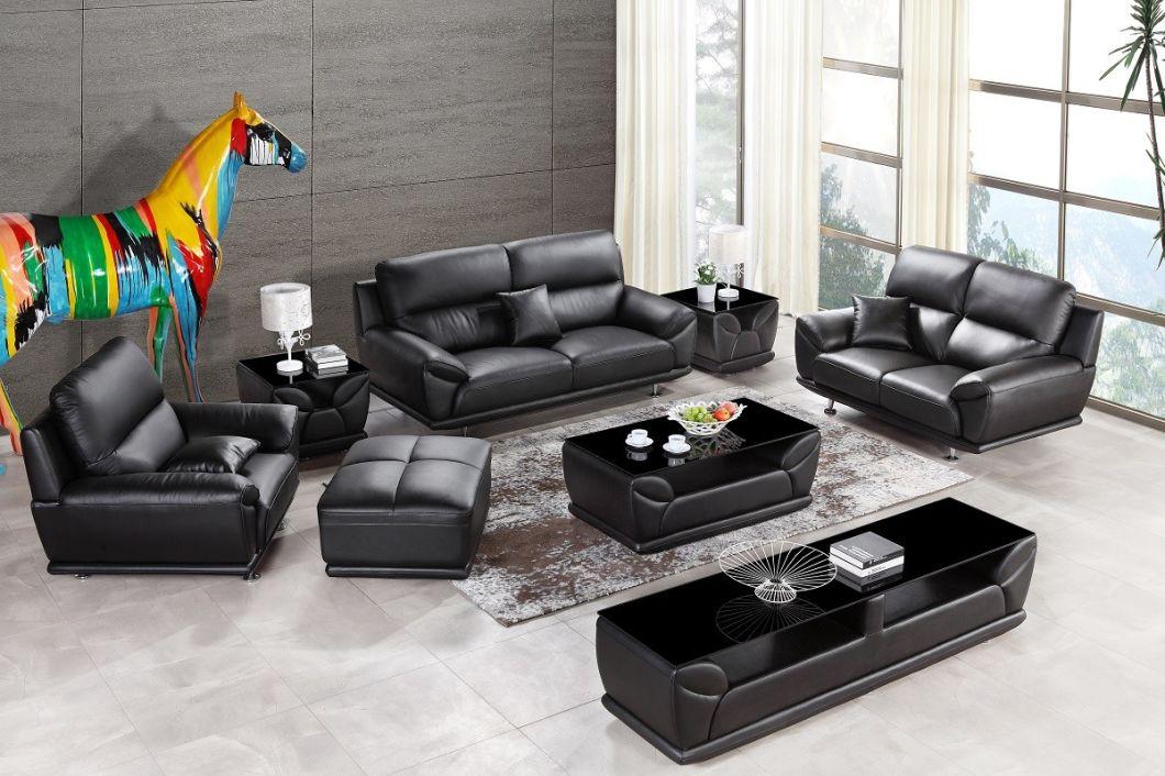 Leisure Genuine Leather Office Sofa Set