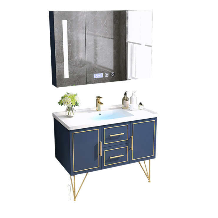Solid Wood Bathroom Vanity Led Mirror
