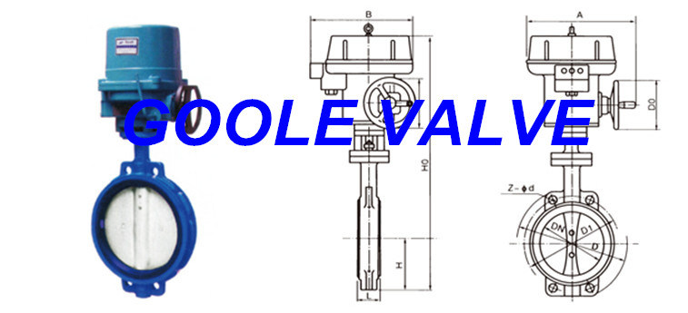 Electric Soft Seal Wafer Type Butterfly Valve (GAD971X)