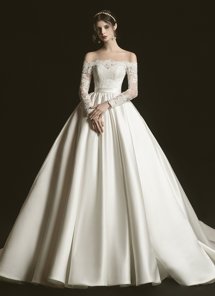 Long Sleeve Wedding Dresses, Sleeved Bridal Gowns 2021 - VQ