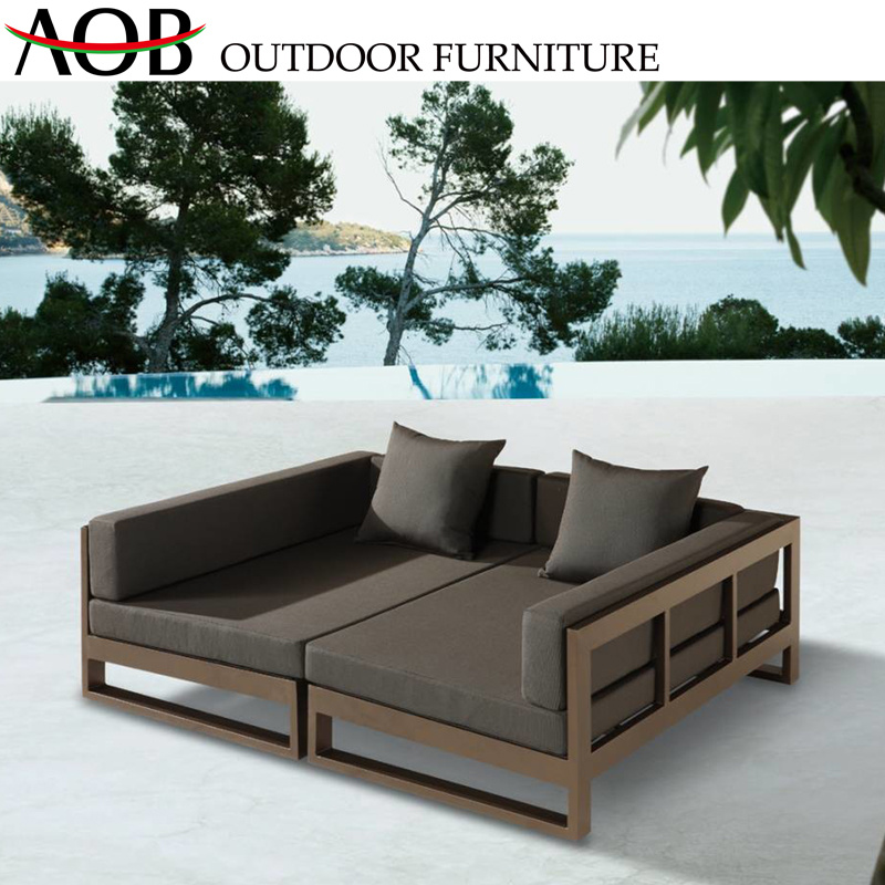 Aluminium Garden Beach Furniture Daybed