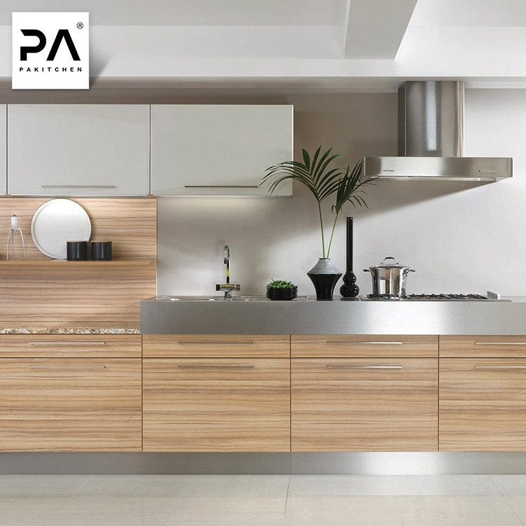 China Contemporary Luxury Wood Grain Laminate Kitchen ...