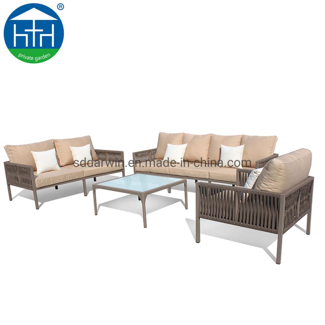 Garden Patio Sofa Set With Rope Weaving