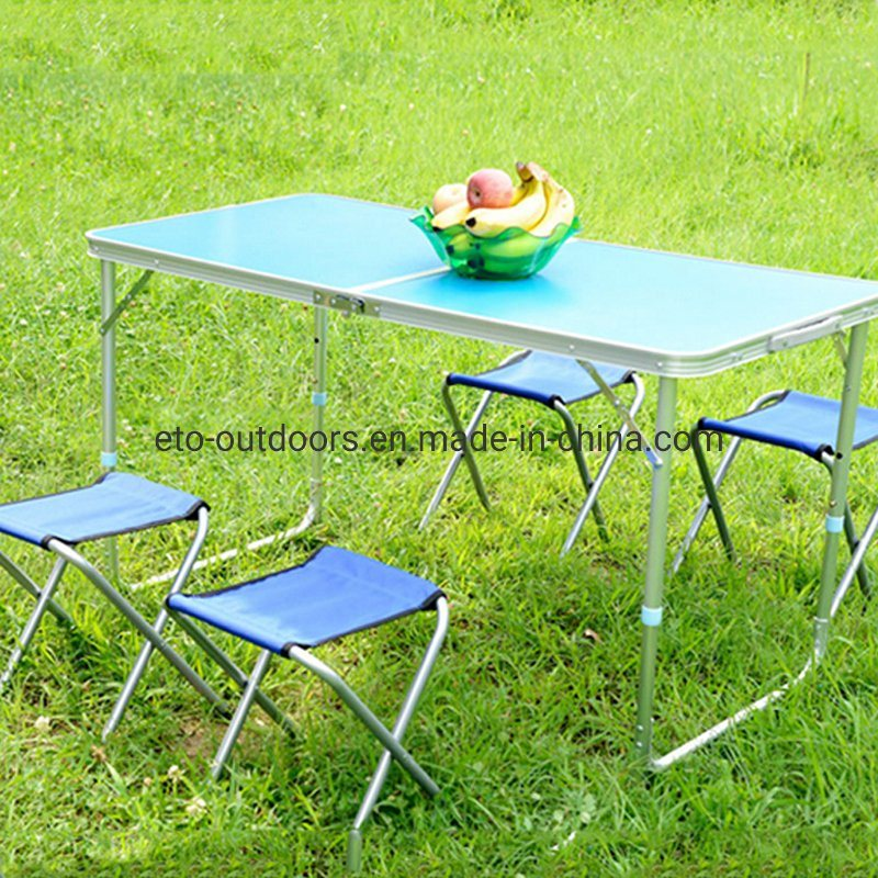 Foldable Table And Chair Set.China Aluminium Folding Camping Picnic Table Chair Set