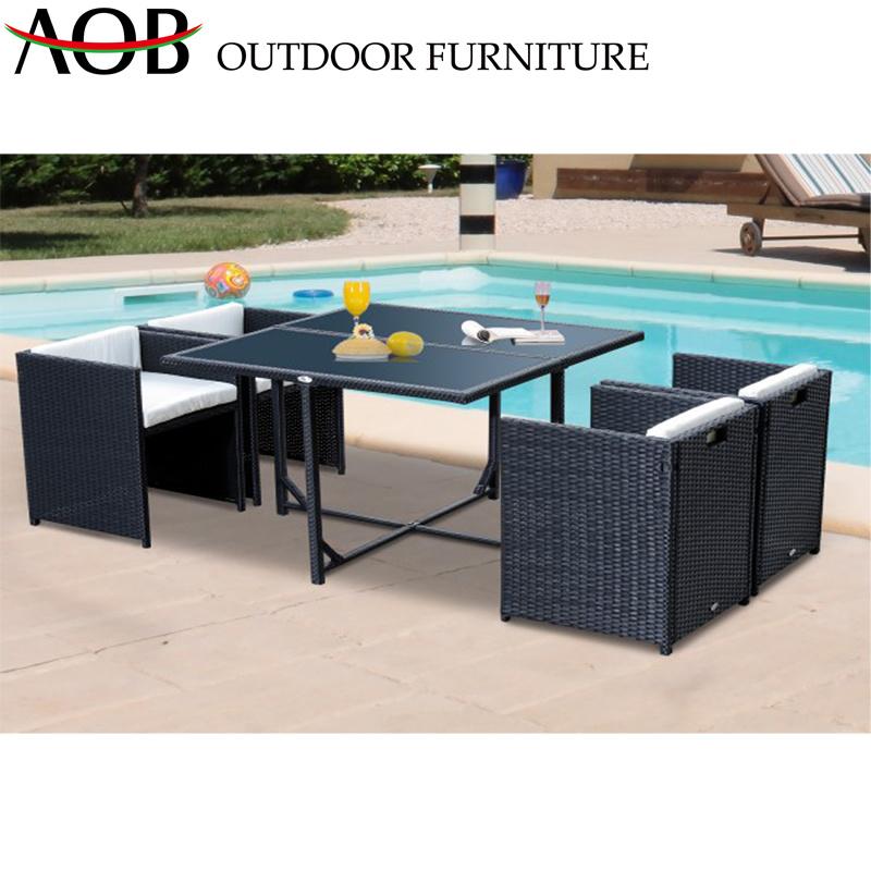 5-Piece Dining Set Outdoor Patio Garden Furniture Rattan Wicker Hotel Restaurant Dining Sets