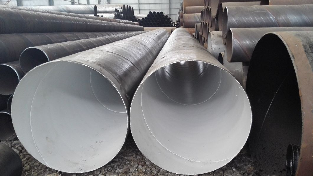 Large Diameter Saw Spiral Round Welded Carbon Steel Pipe