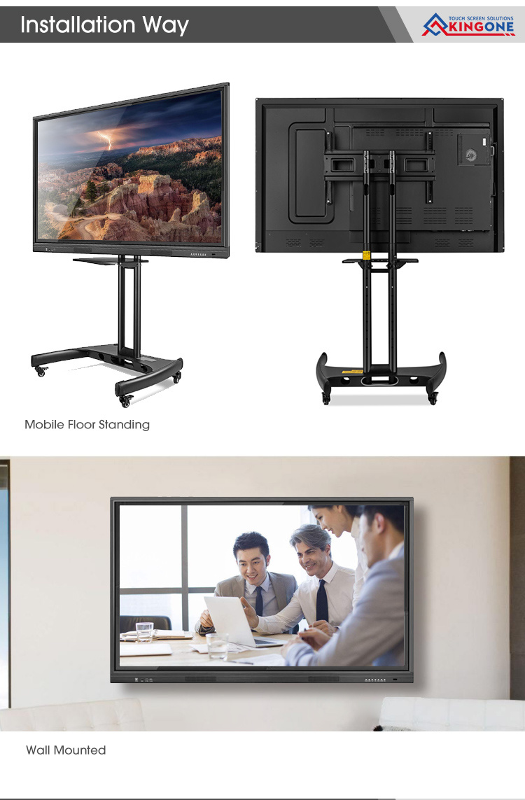 All in One 55 65 75 86 96 Inch Interactive Touch Screen Smart Electro<em></em>nic Whiteboard