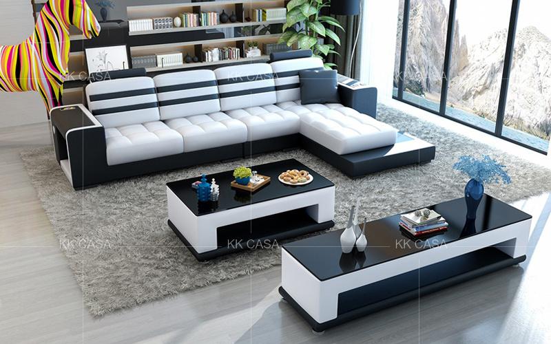 Luxury Living Room L Shaped Sofa Set