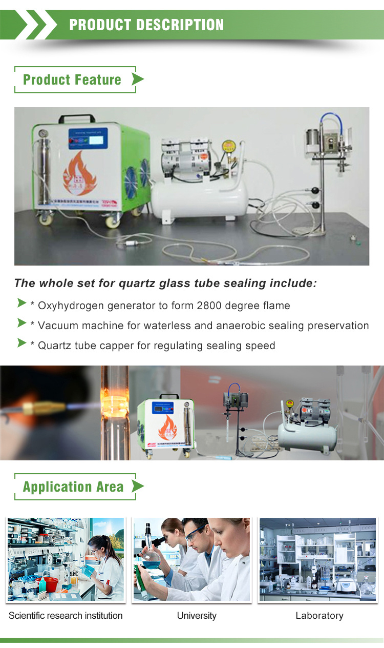 Silica Glass Tubes Necking Sealing Device for Chemistry Materials Research Laboratory