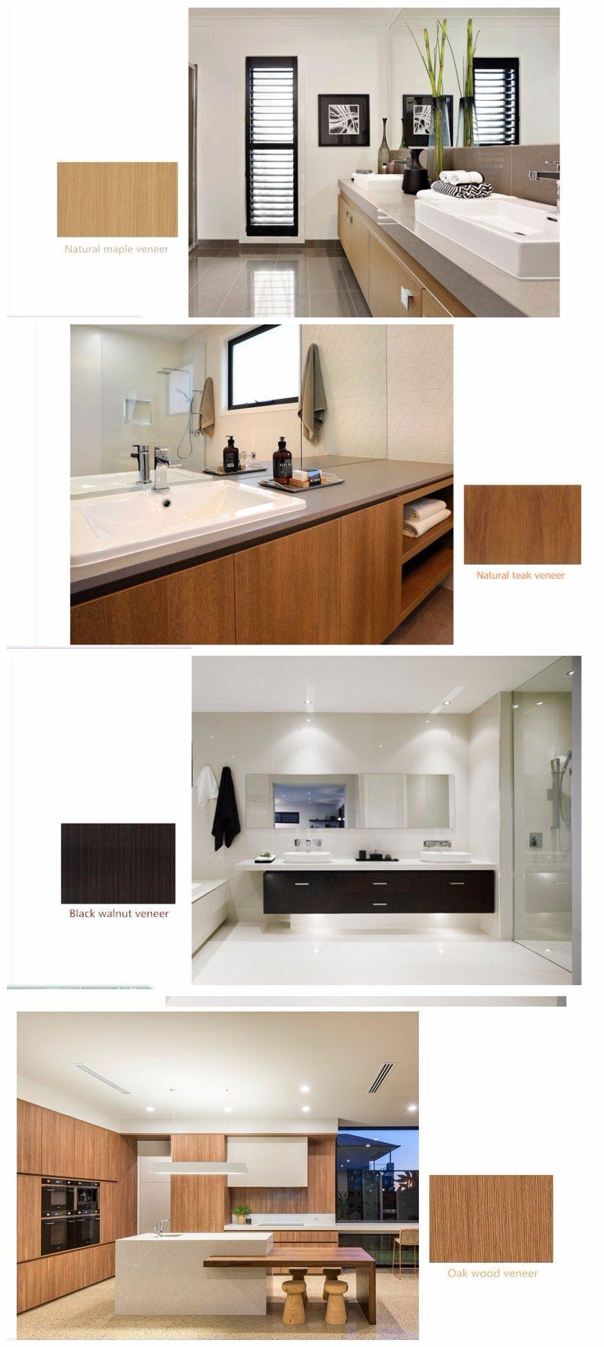 China Teak Wood Timber Veneer Kitchen Cabinets Home ...