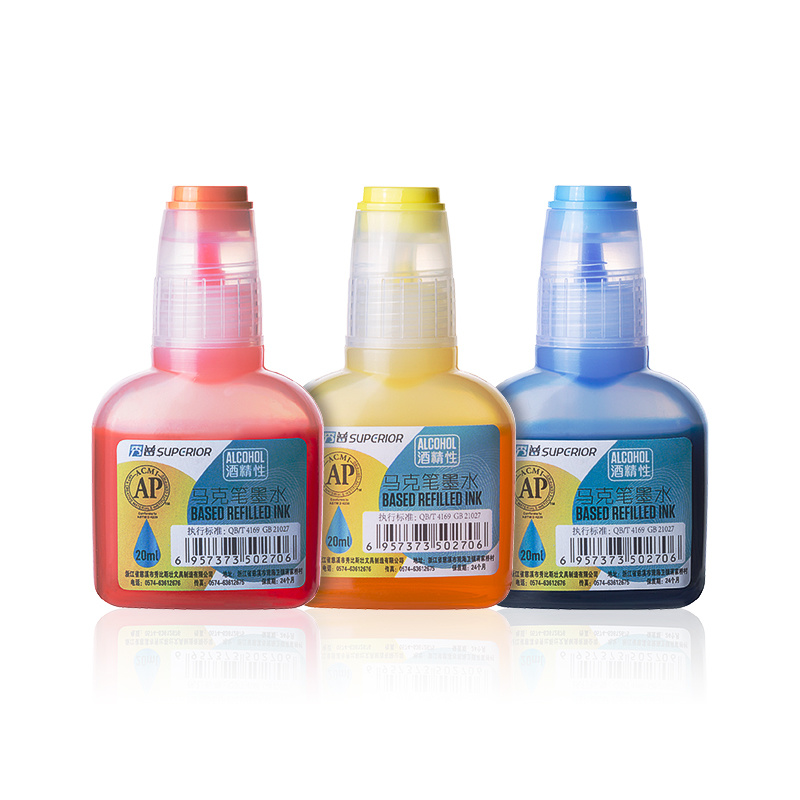 Superior 240 Colors High Quality Non-Toxic Alcohol ba<em></em>sed Refilled Ink with Bottle