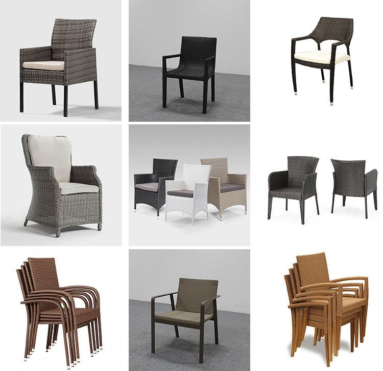 Simple Comfortable Gray Patio Outdoor me<em></em>tal Rattan Loveseat Sofa Chair
