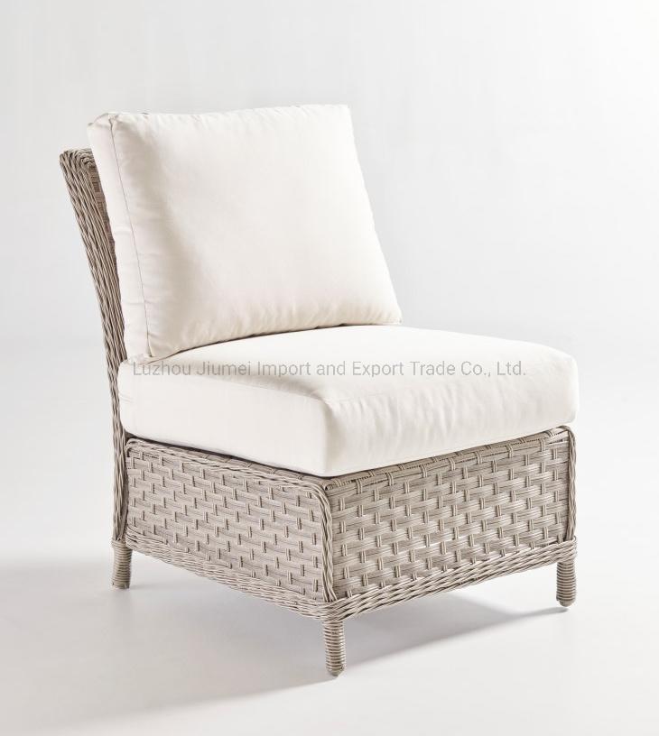 China Outdoor Rattan Furniture Knock Down Armless Single Sofa